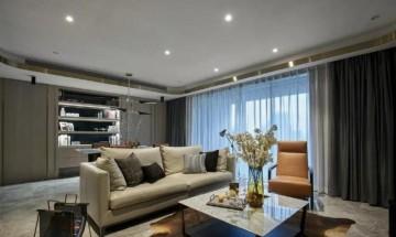 清新淡雅的现代简约90平米二居室装修效果图