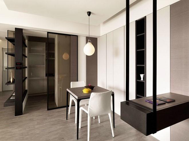 整洁的现代简约风格80平米公寓餐厅吊顶装修效果图