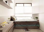 整洁的现代简约风格80平米公寓卧室背景墙装修效果图