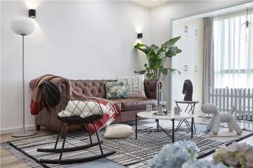 舒适有情调的北欧风格50平米一居室装修效果图