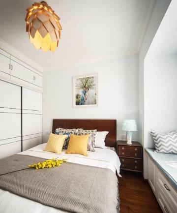 对立统一的现代简约风格90平米三居室装修效果图