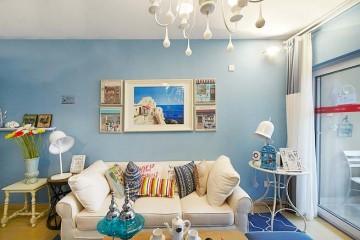 清爽舒适的地中海风格70平米公寓装修效果图