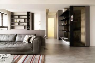 整洁的现代简约风格80平米公寓装修效果图