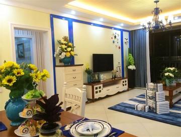 温馨的地中海风格100平米二居室装修效果图