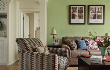 满满爱的田园风格100平米三居室装修效果图