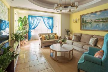 清新休闲的田园风格140平米四居室装修效果图