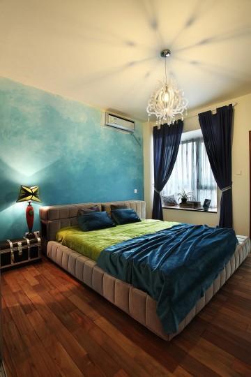 梦幻湖蓝的地中海风格60平米公寓装修效果图