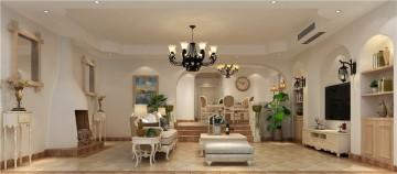温馨的田园风格100平米二居室装修效果图