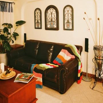 乡村复古的地中海风格60平米公寓装修效果图