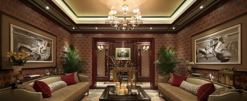 富丽堂皇的美式风格200平米别墅装修效果图