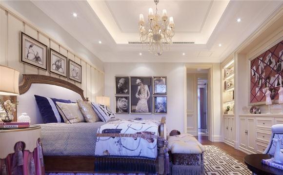豪华炫丽的美式风格300平米别墅装修效果图