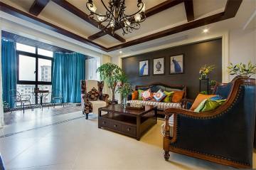 清新田园风格140平米四居室装修效果图