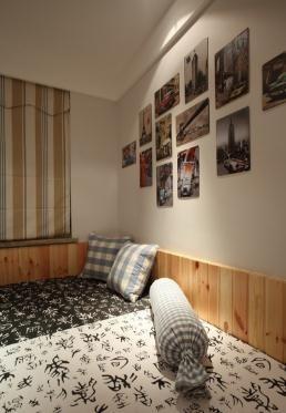 简约质朴美式风格90平米公寓装修效果图