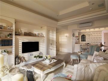雅致的田园风格140平米四居室装修效果图