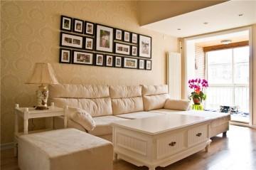 简约田园风格80平米二居室装修效果图