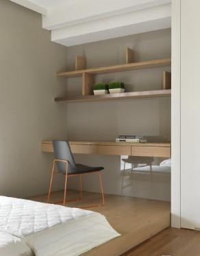 连贯淡雅日式风格160平米四居室装修效果图