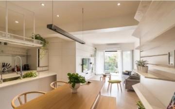 绿意盎然日式风格100平米三居室装修效果图