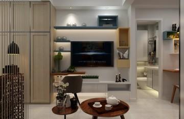 清爽的北欧风格一居室装修效果图