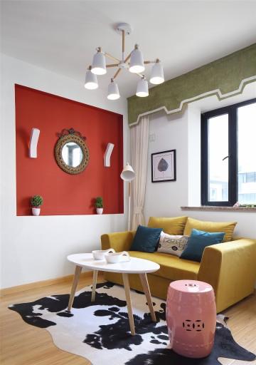 温馨的北欧风格一居室装修效果图