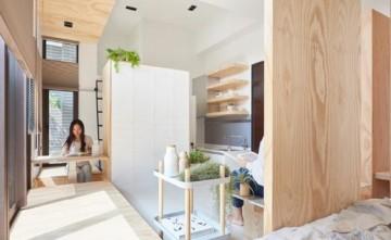 宽敞舒适日式风格60平米一居室装修效果图