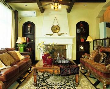 褐色雅致的东南亚风格160平米别墅装修效果图