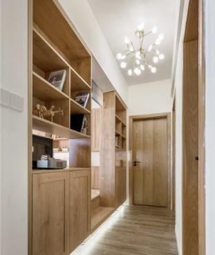 通透温馨日式风格90平米三居室装修效果图