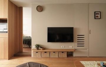 休闲简洁日式风格70平米一居室装修效果图
