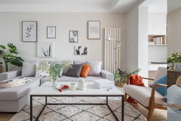 清爽洁净的北欧风格二居室装修效果图