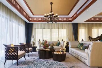 独特的东南亚风格150平米别墅装修效果图