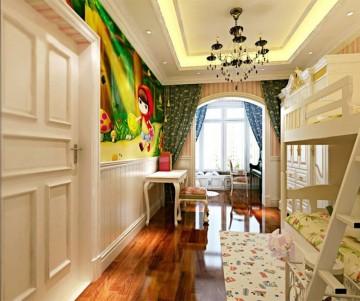 舒适的田园风格50平米一居室装修效果图