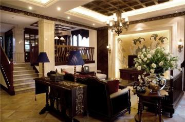 休闲的东南亚风格160平米别墅装修效果图