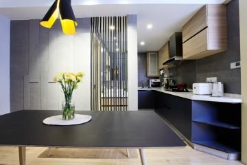 简洁的北欧风格二居室装修效果图