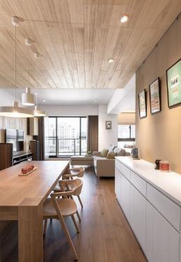 悠然自得的日式风格90平米二居室装修效果图