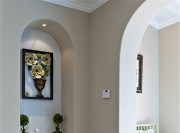 清新舒适的田园风格150平米别墅玄关装修效果图