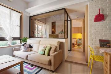 创意日式风格80平米一居室装修效果图