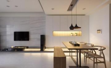 简约清新日式风格90平米四居室装修效果图