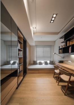 低调美观日式风格120平米四居室装修效果图