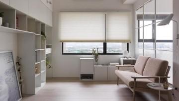 纯白北欧风格一居室装修效果图
