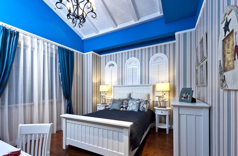 清新舒适的田园风格150平米别卧室背景墙装修效果图