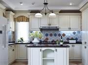 清新舒适的田园风格150平米别墅厨房装修效果图