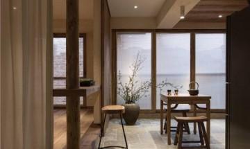 淡薄简约日式风格110平米三居室装修效果图