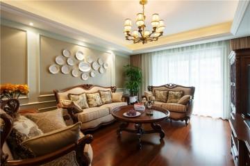 美观舒适的欧式风格四居室装修效果图