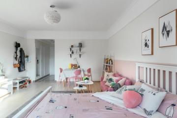 简洁的北欧风格60平米公寓装修效果图