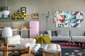 多彩的东南亚风格一居室装修效果图
