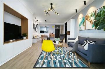 清爽简洁的北欧风格四居室装修效果图