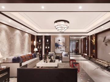 宁静舒适中式风格150平米四居室装修效果图