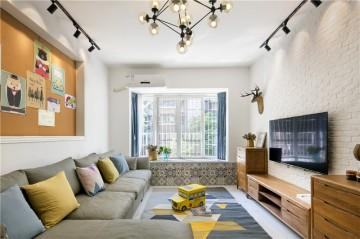 朴实温和的北欧风格四居室装修效果图