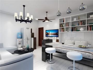 简约时尚的北欧风格一居室装修效果图