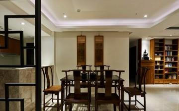 古韵悠长中式风格80平米二居室装修效果图