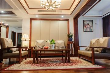 古雅幽深中式风格90平米复式loft装修效果图